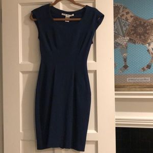 DVF Blue cap sleeve dress